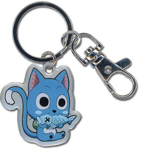 Fairy Tail Metal Keychain - Happy