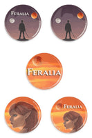 Feralia Buttons - 5 Pack