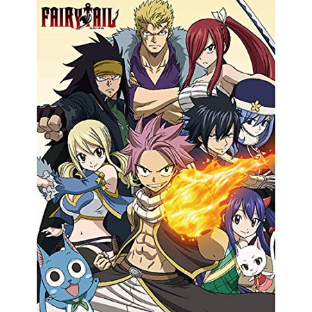 Fairy Tail Season 7 Guild Heroes Group Sublimation Throw Blanket