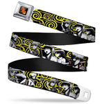 Gin Tama 7-Character Group Pose/Kimono Waves Seatbelt Belt by Buckle-Down