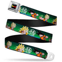 Dragonball Goku Poses w/Goku's Symbol Seatbelt Belt by Buckle-Down
