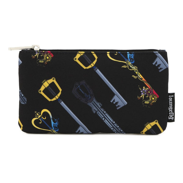 LOUNGEFLY X DISNEY KINGDOM HEARTS AOP KEYS NYLON POUCH
