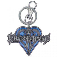 Kingdom Hearts Metal Keychain - Blue Heart