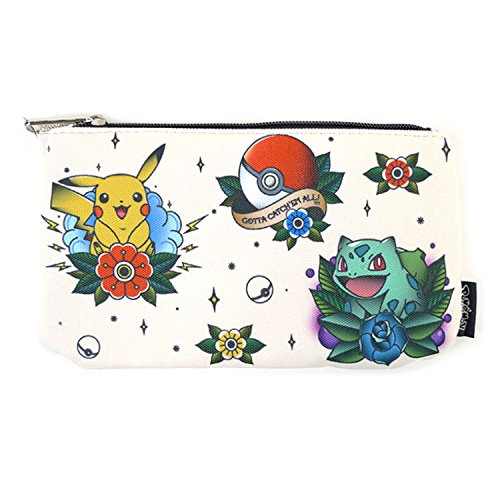Loungefly Pokemon Large Coin/Cosmetic Bag Pikachu Bulbasaur Squirtle Charmander