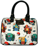 Loungefly Pokemon Pikachu Squirtle Bulbasaur Charmander Pokeball Shoulder Bag Purse