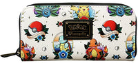 Loungefly Pokemon Pikachu Squirtle Bulbasaur Charmander Pokeball Zip Wallet