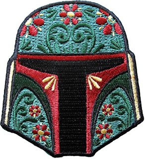 Loungefly Star Wars Boba Fett Floral Helmet Embroidered Patch