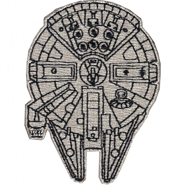 Loungefly Star Wars Millennium Falcon Top View Embroidered Patch