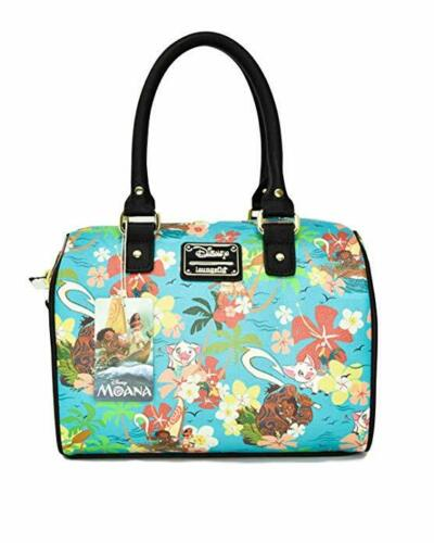 Loungefly Disney Moana Floral Flowers Duffel Tote Bag Purse Handbag