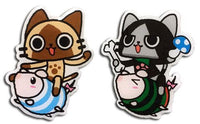 MONSTER HUNTER - AIROU, MERAROU ON POOGIE METAL PIN SET