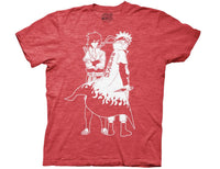 NARUTO SHIPPUDEN AND SASUKE OUTLINE CREW T-SHIRT