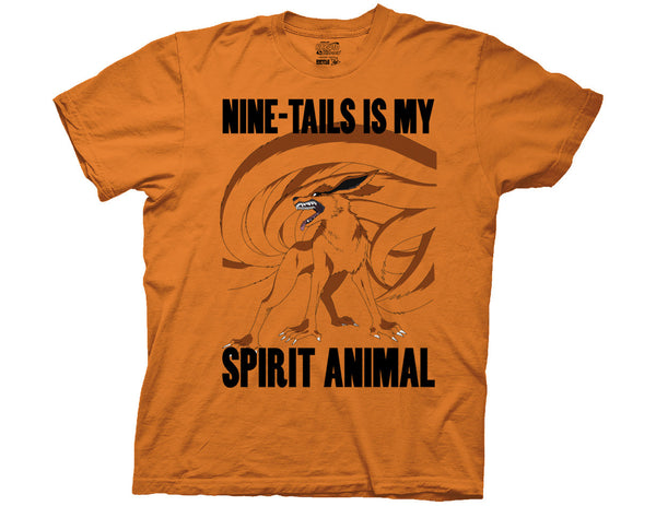 NARUTO - SHIPPUDEN NINE-TAILS IS MY SPIRIT ANIMAL ADULT T-SHIRT