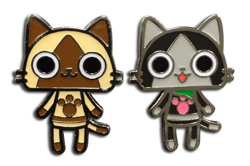 MONSTER HUNTER - AIROU & MERAROU METAL PIN SET