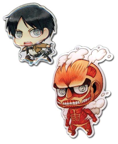 Attack on Titan Pin Set - Eren & Titan