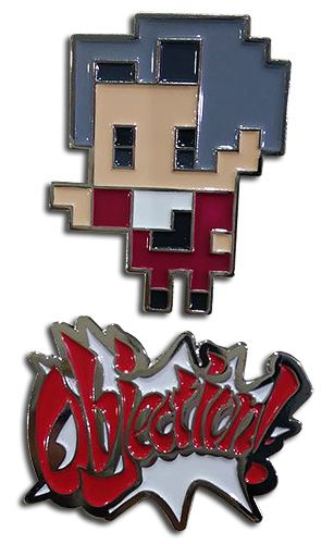 ACE ATTORNEY - MILES & OBJECTION PINS