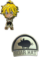 THE SEVEN DEADLY SINS - MELIODAS & BOAR HAT PINS