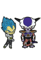 DRAGON BALL SUPER - SS VEGETA & FRIEZA PINS