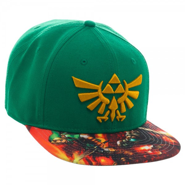 Nintendo Zelda Sublimated Bill Snapback Hat