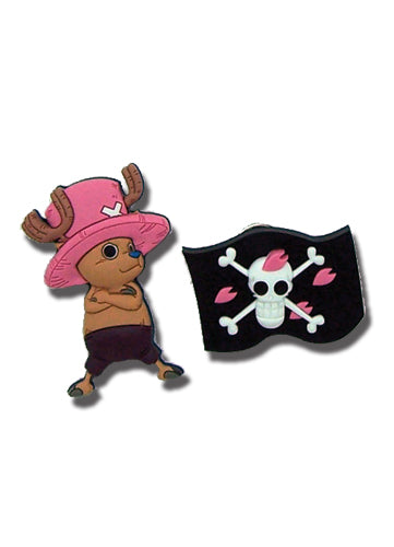 One Piece Pin Set - Chopper and Flag