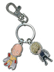 ONE PUNCH MAN - SD SAITAMA AND GENOS METAL KEYCHAIN