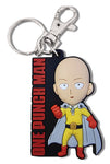 ONE PUNCH MAN - SD SAITAMA WITH LOGO PVC KEYCHAIN