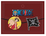 ONE PIECE LUFFY AND FLAG 2-PACK ENAMEL PINS