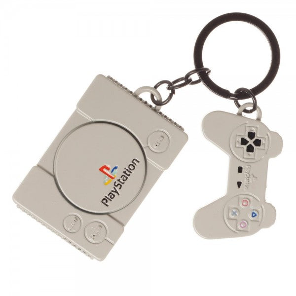 Playstation PS1 Metal Keychain