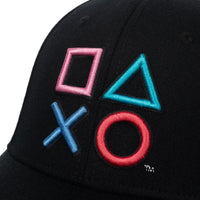 Playstation 3D Embroidered Buttons Flex Fit Hat