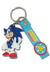 SONIC THE HEDGEHOG PVC KEYCHAIN WITH STRAP