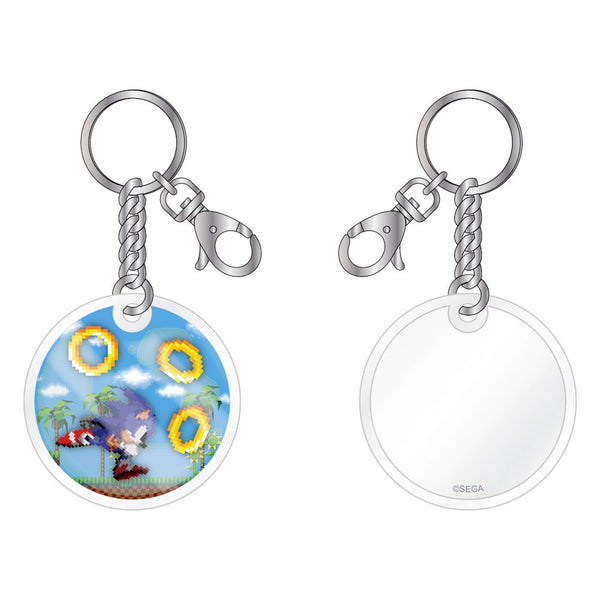 Sonic Liquid Oil-Filled Keychain with Floating Art