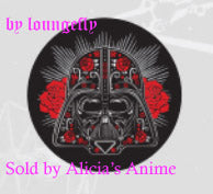 Star Wars 1 1/4 inch Button by Loungefly - Darth Vader Floral Design