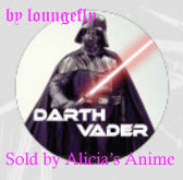 Star Wars 1 1/4 inch Button by Loungefly - Darth Vader Photo