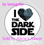 Star Wars 1 1/4 inch Button by Loungefly - I Love the Dark Side