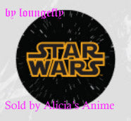 Star Wars 1 1/4 inch Button by Loungefly - Star Wars Title Logo