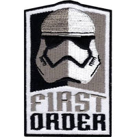Star Wars First Order Stormtrooper Helmet 'First Order' Embroidered Patch
