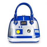 Star Wars R2-D2 Blue/White/Silver Patent Mini Dome Bag by Loungefly