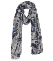 Star Wars R2-D2 Print Viscose Scarf