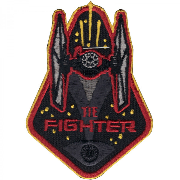 Star Wars TIE Fighter with Red and Yellow Embroidered Patch
