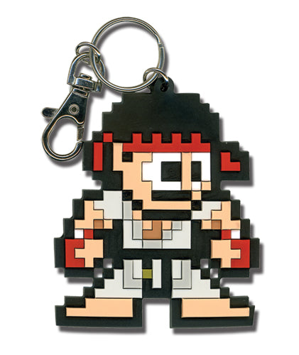 Street Fighter Keychain - 8-Bit Ryu