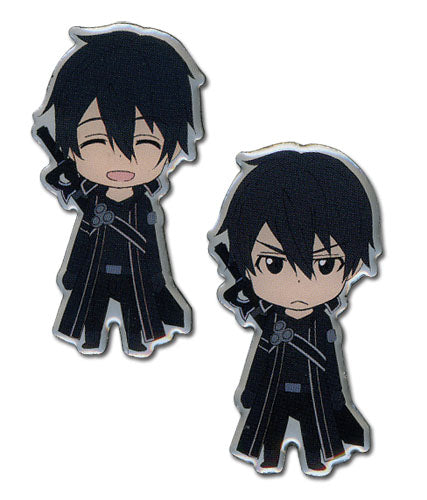 Sword Art Online Pin Set - Happy and Angry Kirito