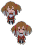 Sword Art Online Pin Set - Happy and Angry Silica