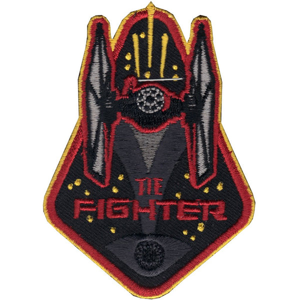 Loungefly Star Wars TIE Fighter Iron On Patch with Red and Yellow