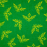 The Legend of Zelda Logo Green Viscose Scarf