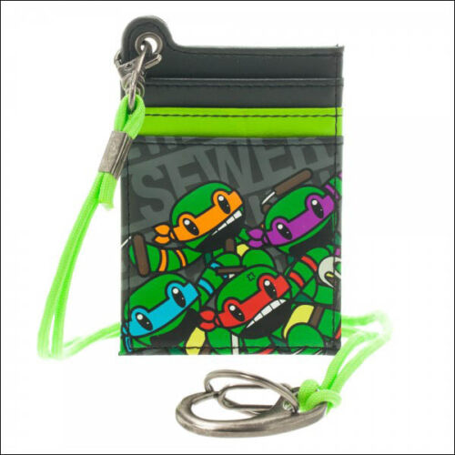 Teenage Mutant Ninja Turtles TMNT Parachord Slim Credit Card Wallet