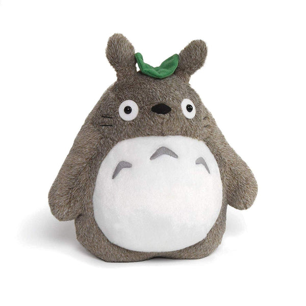 Totoro With Leaf Stuffed Animal Plush in Gray 9 inches