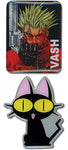Trigun Pin Set - Kuro Neko and Vash