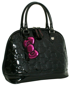 HELLO KITTY BLACK EMBOSSED TOTE BAG - LARGE