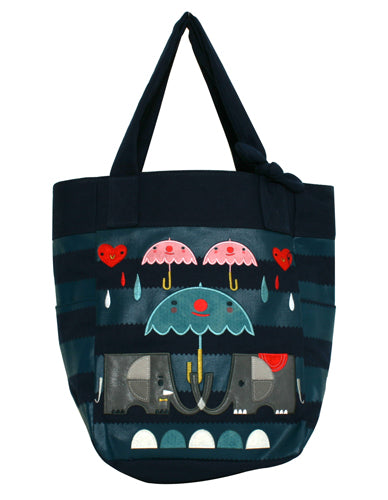 Crowded Teeth Elephant Tote Bag