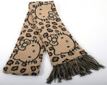 HELLO KITTY LEOPARD PRINT SCARF
