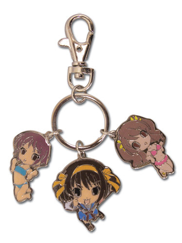 The Melancholy of Haruhi Suzumiya Girls Charms Metal Keychain